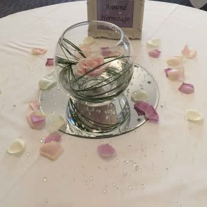 fishbowl wedding centrepiece hire