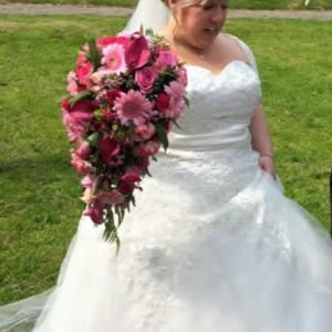 pink brides shower bouquet
