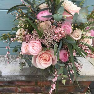 rustic relaxed spring pink bouquet