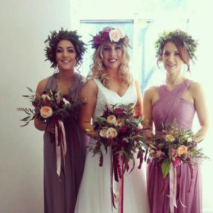 wedding hair floral crowns