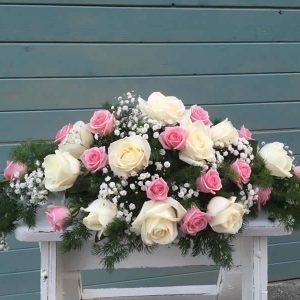 wedding top table centrepiece